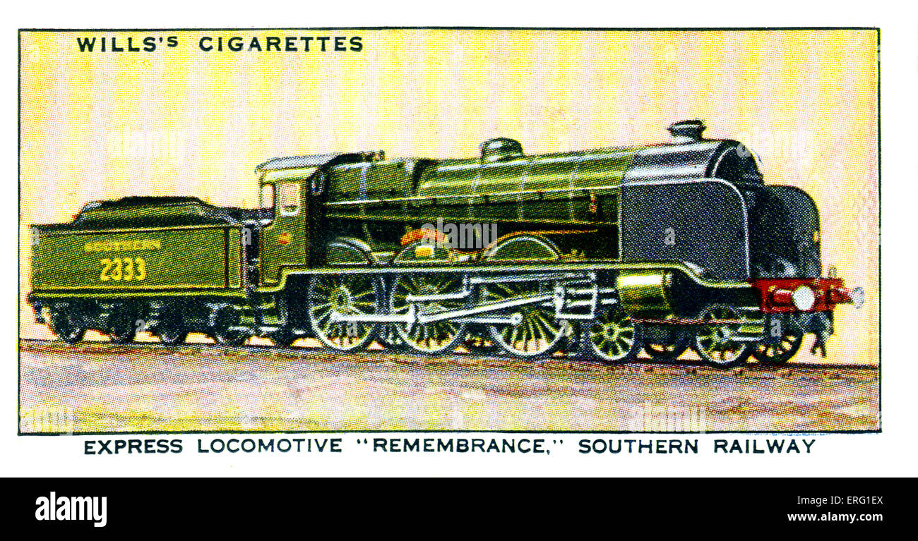 'Remembrance' Express Locomotive. Named in memory of employess of L.B. and S.C.R who died in WW1. A 4-6 - Stock Image