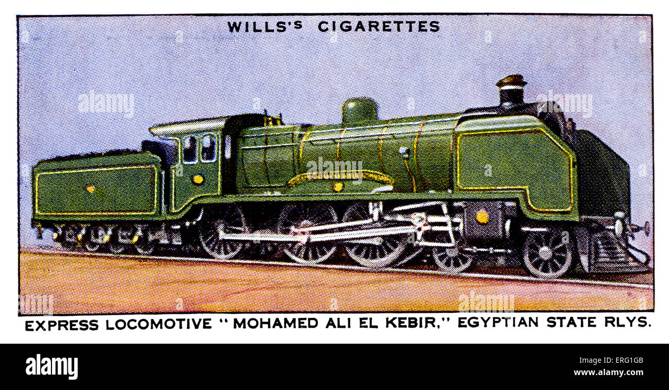 'Mohamed Ali El Kebir' Express Locomotive. 1930s. Express Locomotive on the Egyptian State Railways. 4-4 - Stock Image