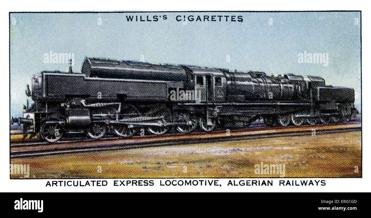 Algerian Articulated Express Locomotive.1930s.  Articulated Express Locomotive for use on the Algiers-Oran and - Stock Image