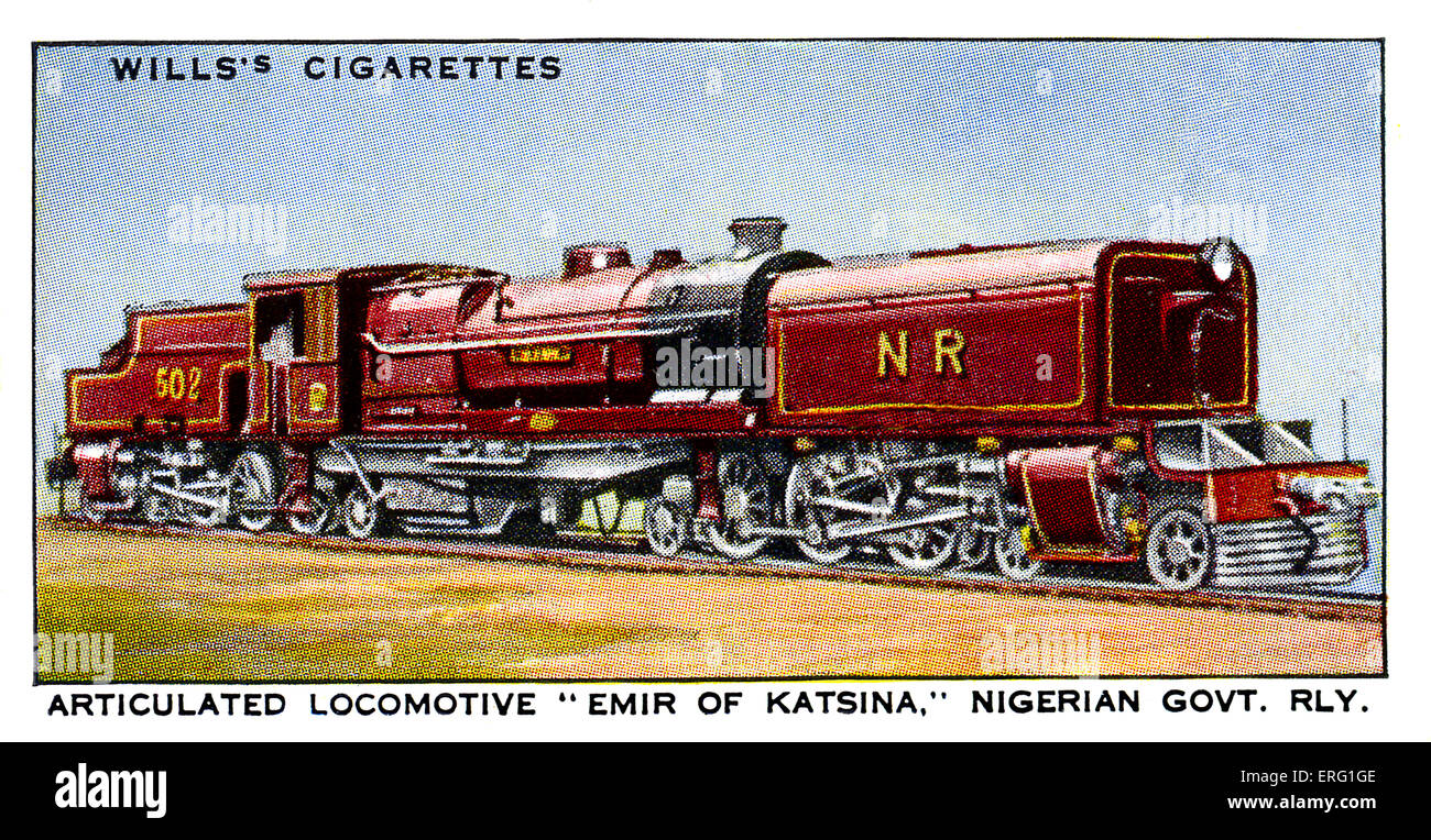 'Emir of Katsina' Locomotive. 1930s. Articulated Locomotive on the Nigerian Government Railway. Named after - Stock Image