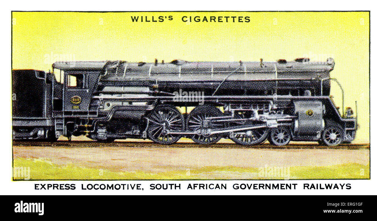 South African Express Locomotive. 1930s. Express Locomotive used on the South African Government Railways. New 'Pacific' - Stock Image