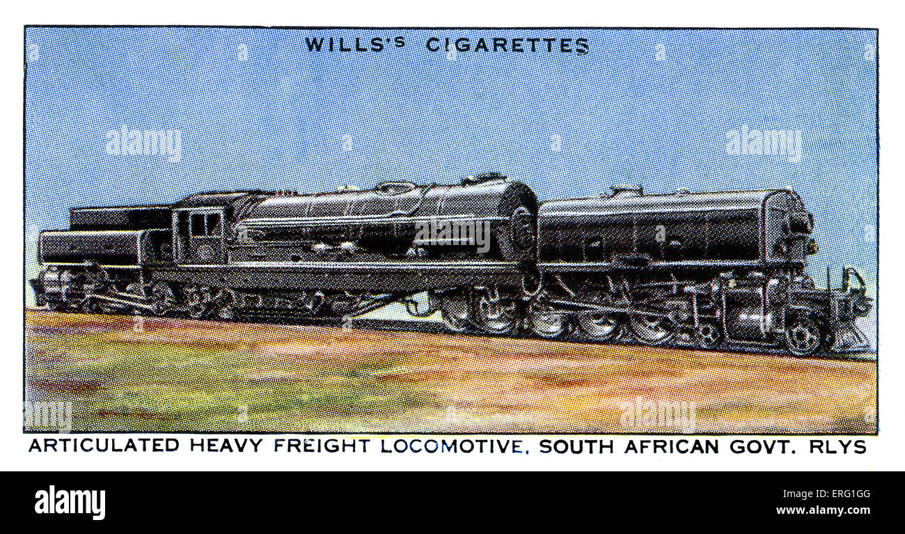 South African Freight Locomotive.1930s. Articulated heavy freight locomotive on the South African Government Railways. - Stock Image