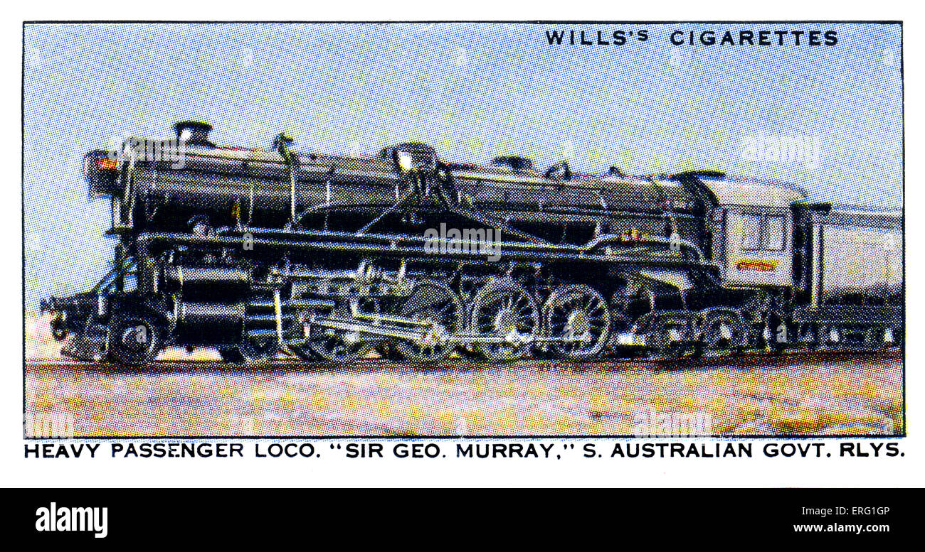 'Sir George Murray' Locomotive.1930s. A heavy passenger locomotive on the South Australian Government Railways. - Stock Image