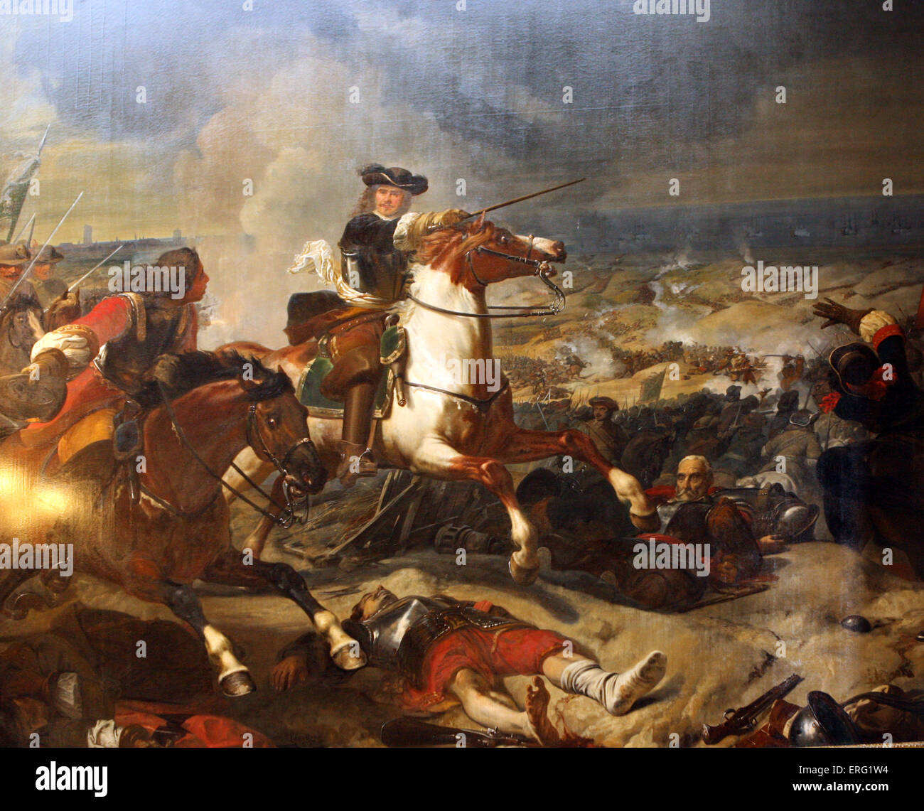 Siege of  Dunkirk - Battle of the dunes. won by the Marshall of Turenne 14th june 1658 - Stock Image