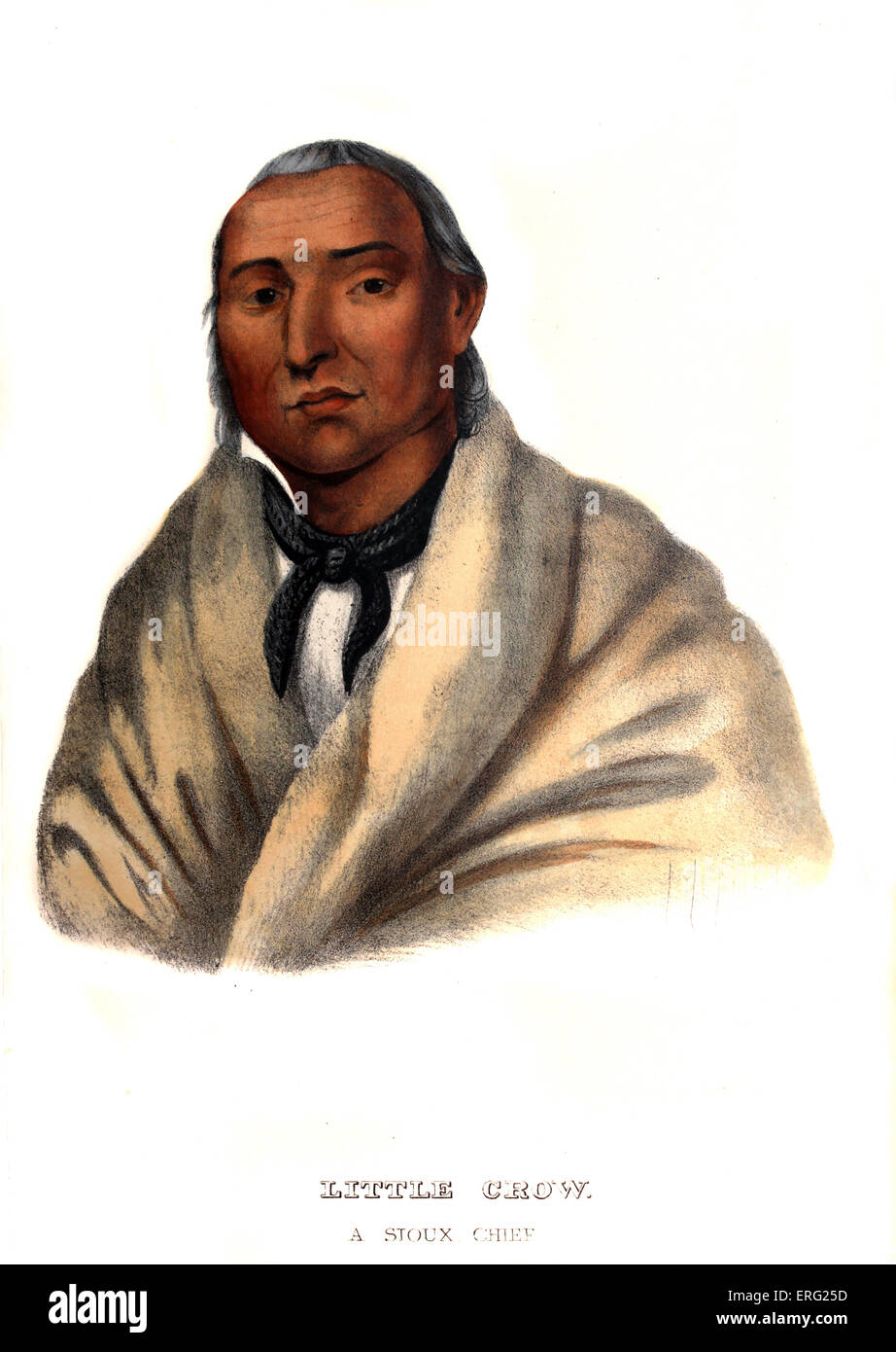 Little Crow, a Sioux Chief. Native American chief of the Mdewakanton Dakota Sioux, and signatory to treaties with - Stock Image