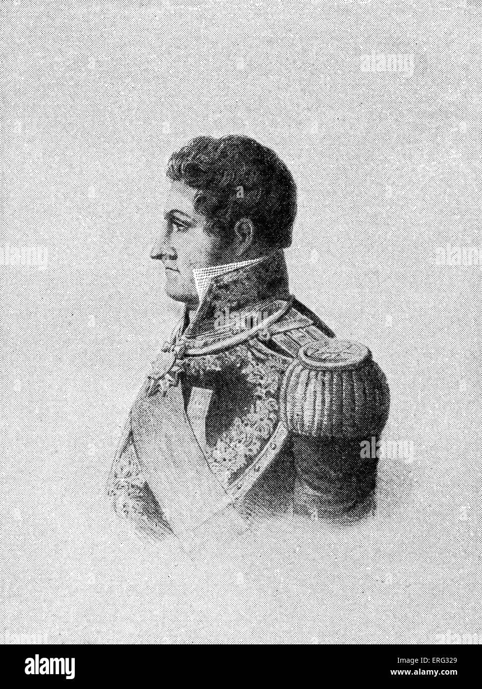 General Simon Bolivar, Venezuelan military commander and  liberator of South America  24 July 1783 - 17 December - Stock Image