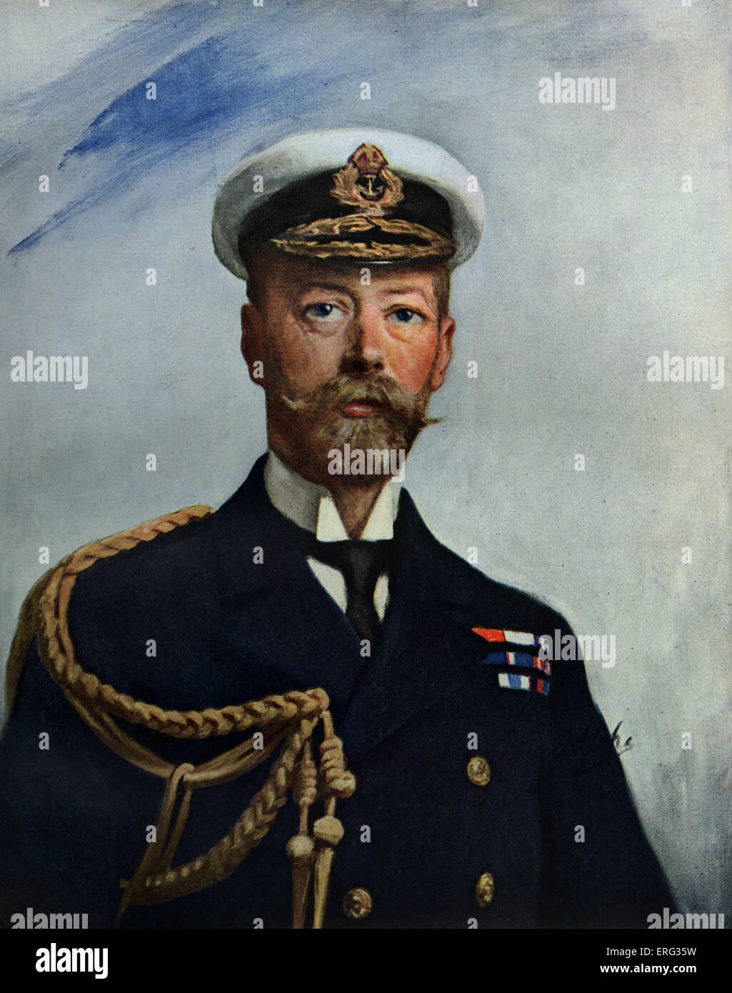 King George V,copy of the portrait by A. S. Cope, 1911.  George V, British monarch, 3 June 1865 – 20 January 1936. - Stock Image