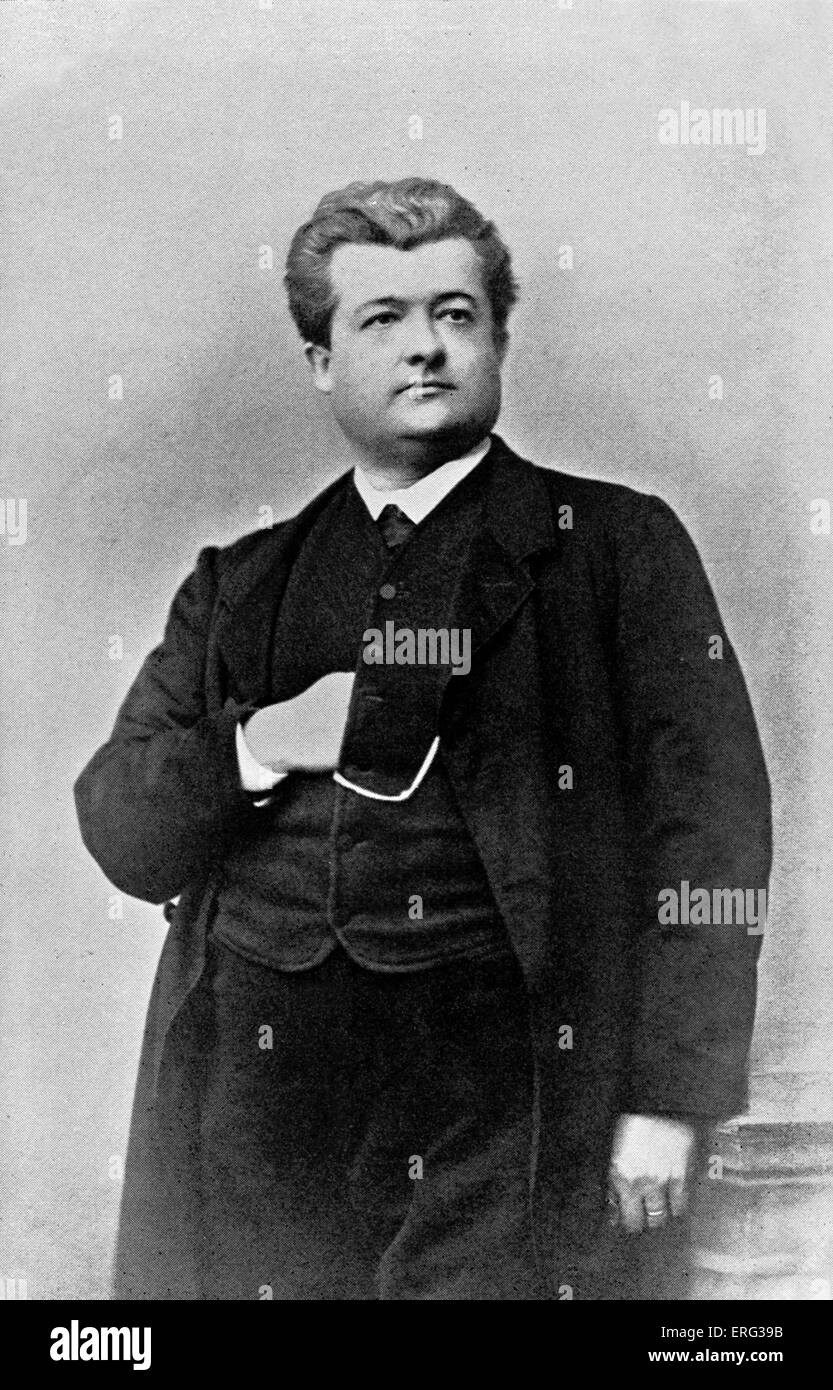 August Förster. German actor and director of the Vienna Burgtheater. 3 June 1828 - 22 December 1889. - Stock Image