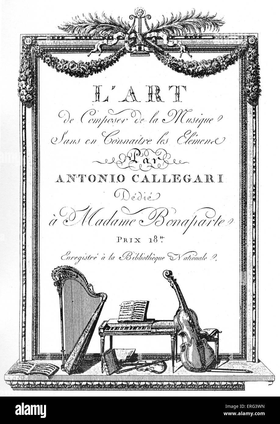 'L'Art de Composer de la musique sans en Connaitre les Elémense' (The art of the composer of music, - Stock Image