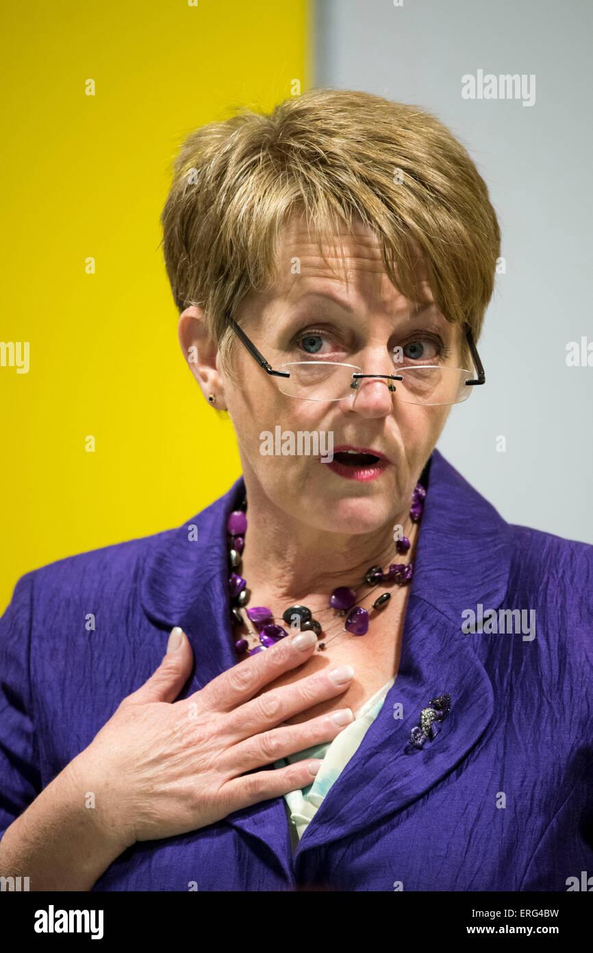 Jocelyn Davies AM for Plaid Cymru South Wales East. Stock Photo