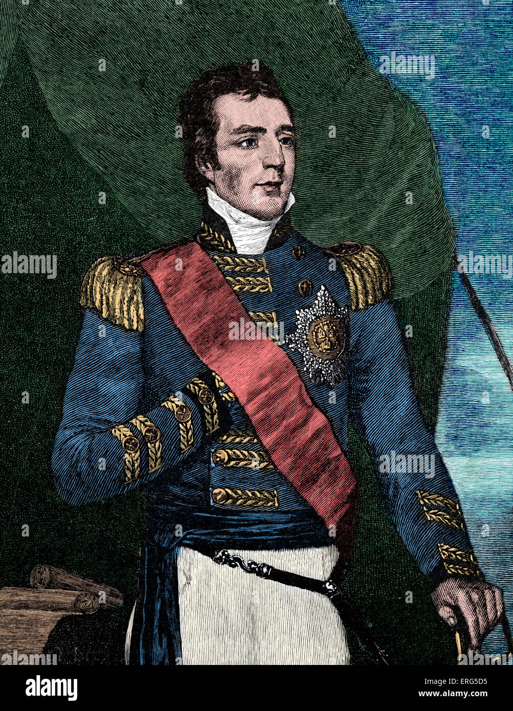 Major general Arthur Wellesley, afterwards Duke of Wellington. Anglo-Irish  soldier and statesman,  leading military - Stock Image