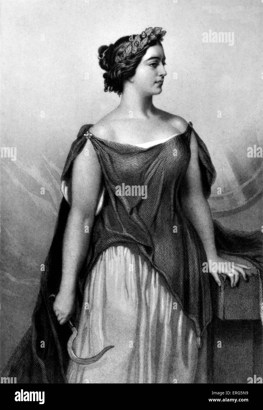 Giulia Grisi as Vincenzo Bellini 's ' Norma ' Caption reads: ' When ' Norma ' was first - Stock Image