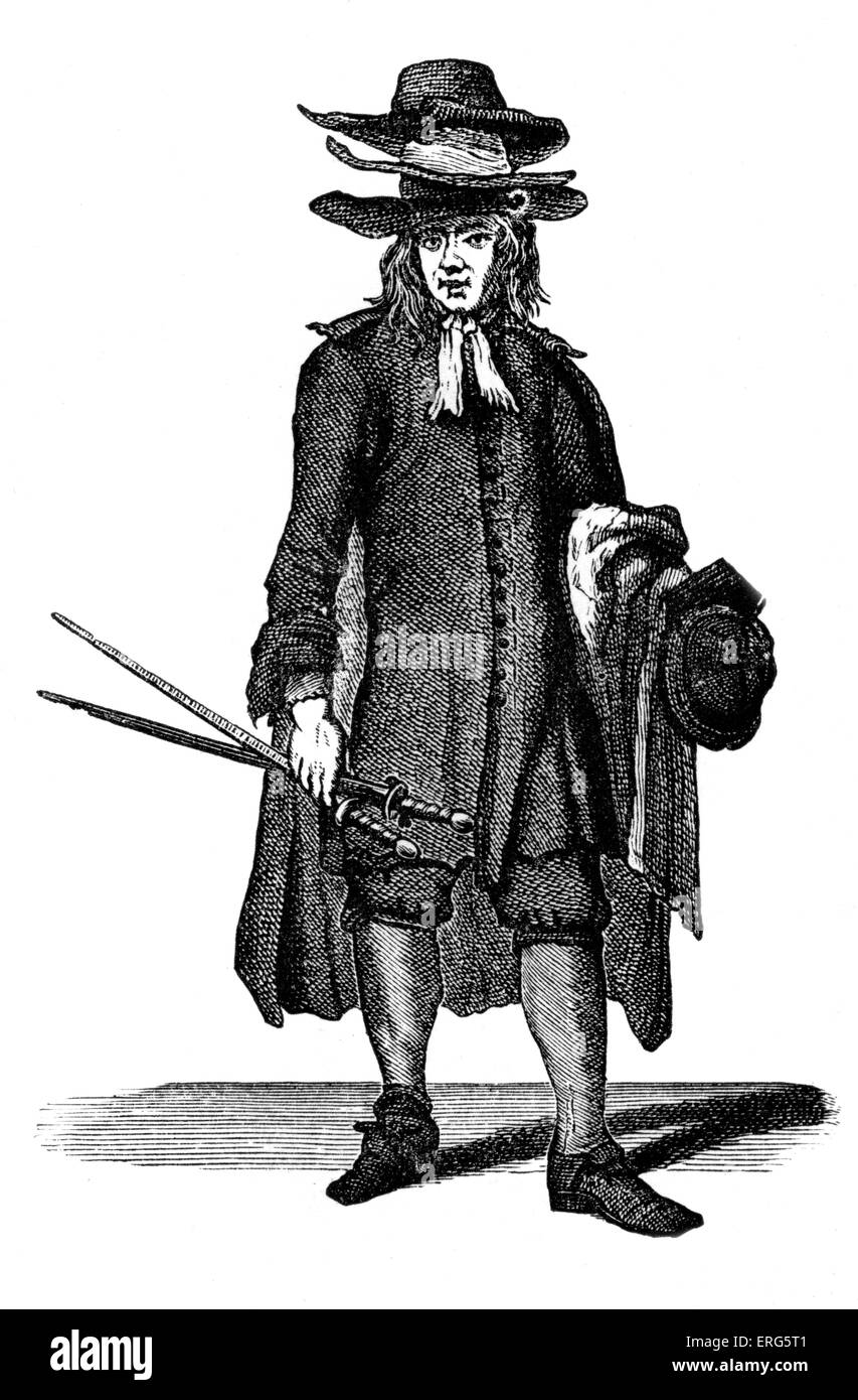 The Cries of London: 'Old Cloaks, suits or Coats' by Marcellus Laroon, 1689. Series of etchings first published - Stock Image