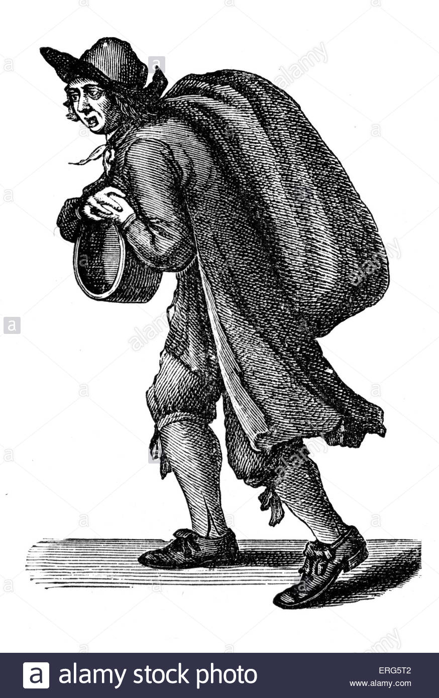 The Cries of London: 'Small Coal'e by Marcellus Laroon, 1689. Coal merchant. Series of etchings first published - Stock Image