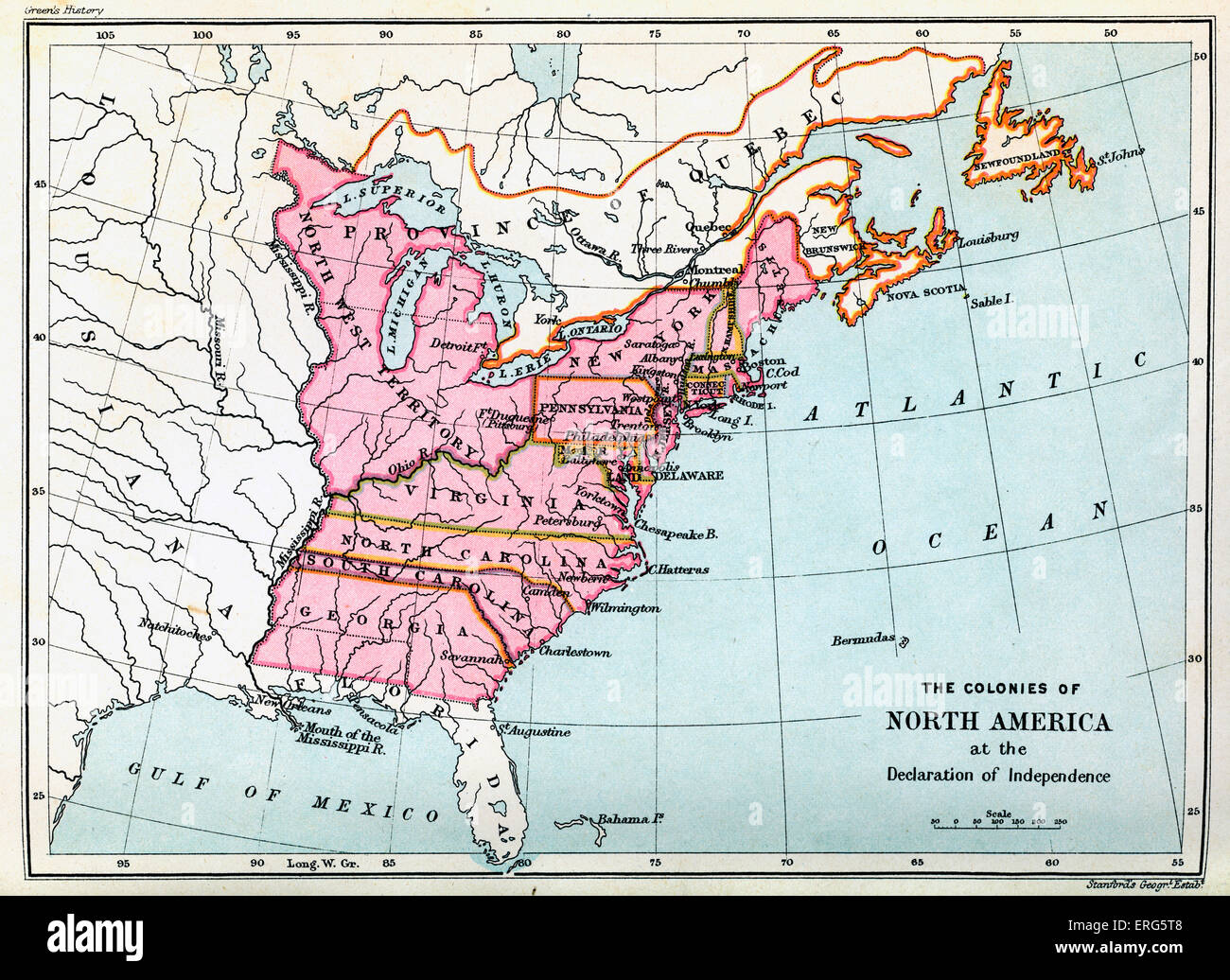 Colonies of North America in 1776, at the United States