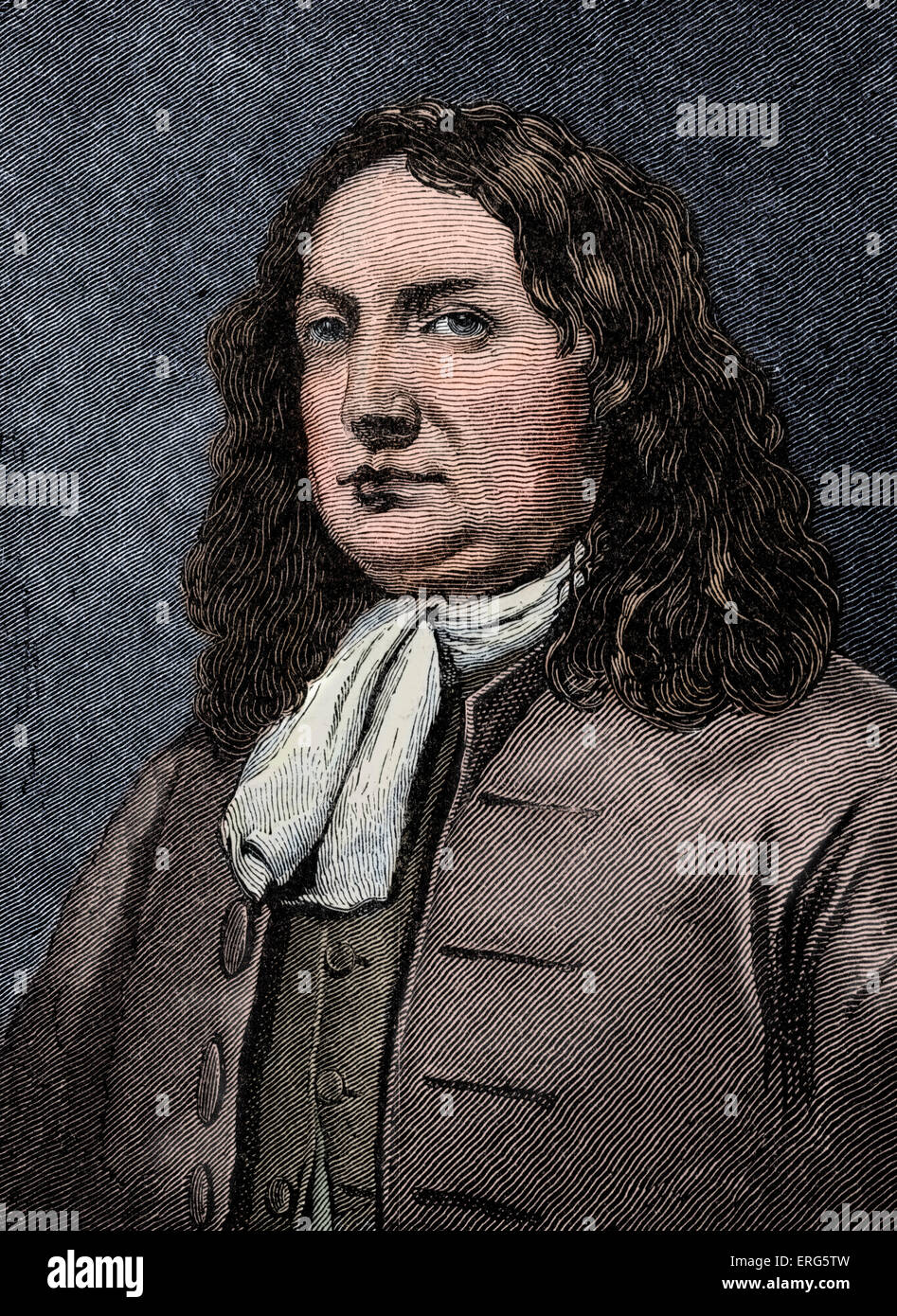 William Penn.English religious reformer and columnist, founder of the US state of Pennsylvania: 14 October 1644 - Stock Image