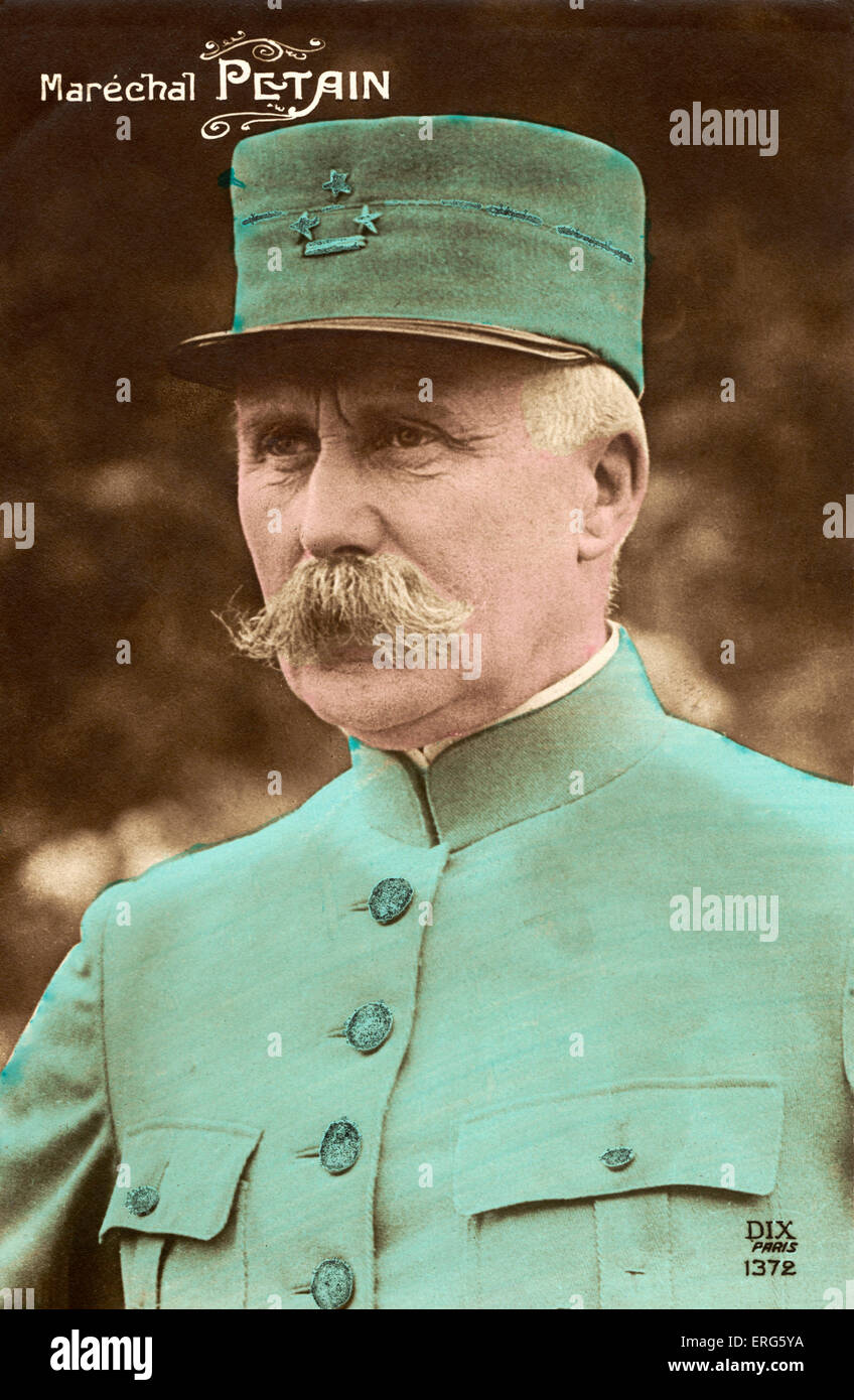 Marechal Philippe Petain, portrait. Marshall in Vichy, France - Stock Image