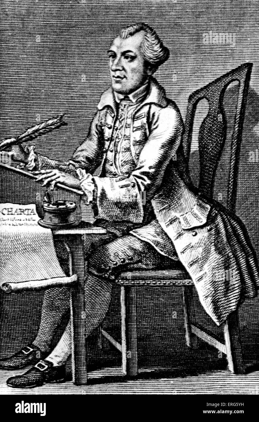 John Wilkes, English journalist and politician (1727 - 1787). Engraving dated 1786. - Stock Image