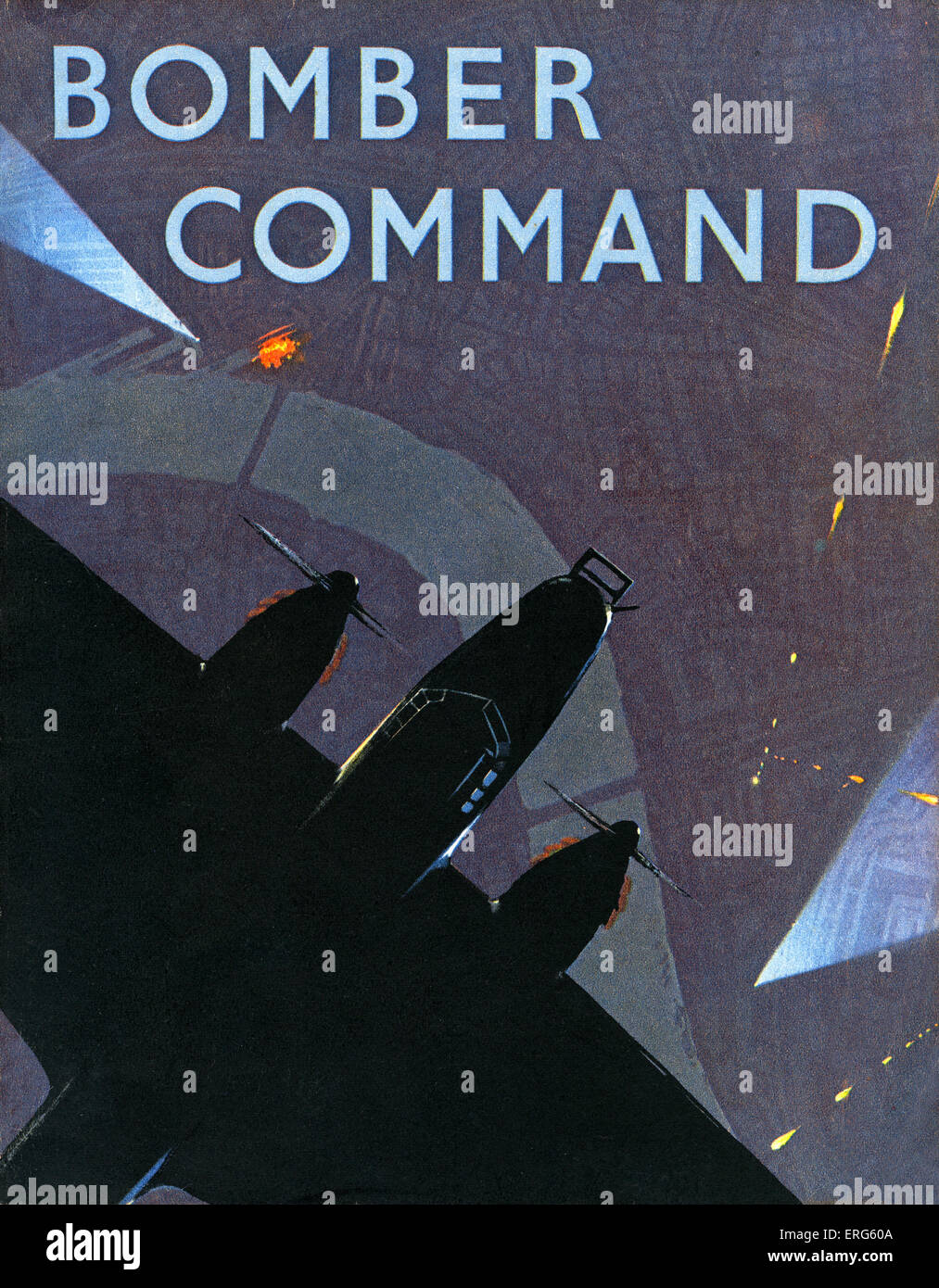 Bomber Command - World War 2 information book. Front cover. Subtitled: 'The Air Ministry Account of Bomber Command - Stock Image