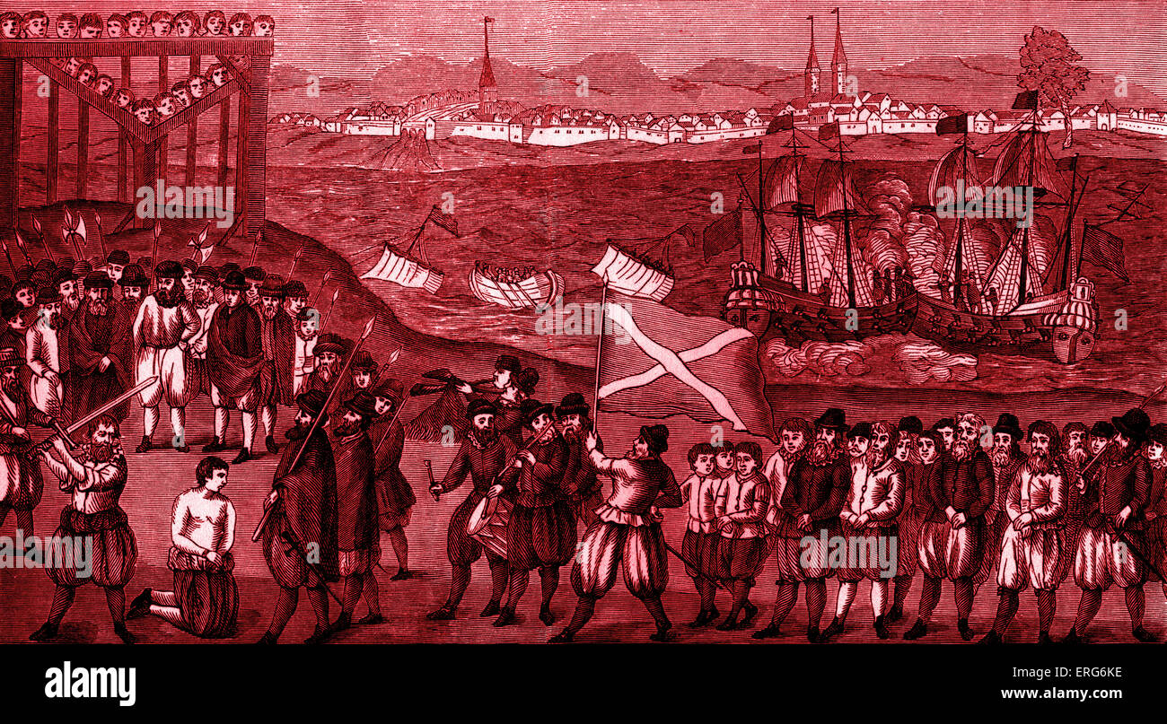 Execution of Klaus Störtebeker, the pirate and leader of the Victual Brothers, along with 70 of his accomplices - Stock Image