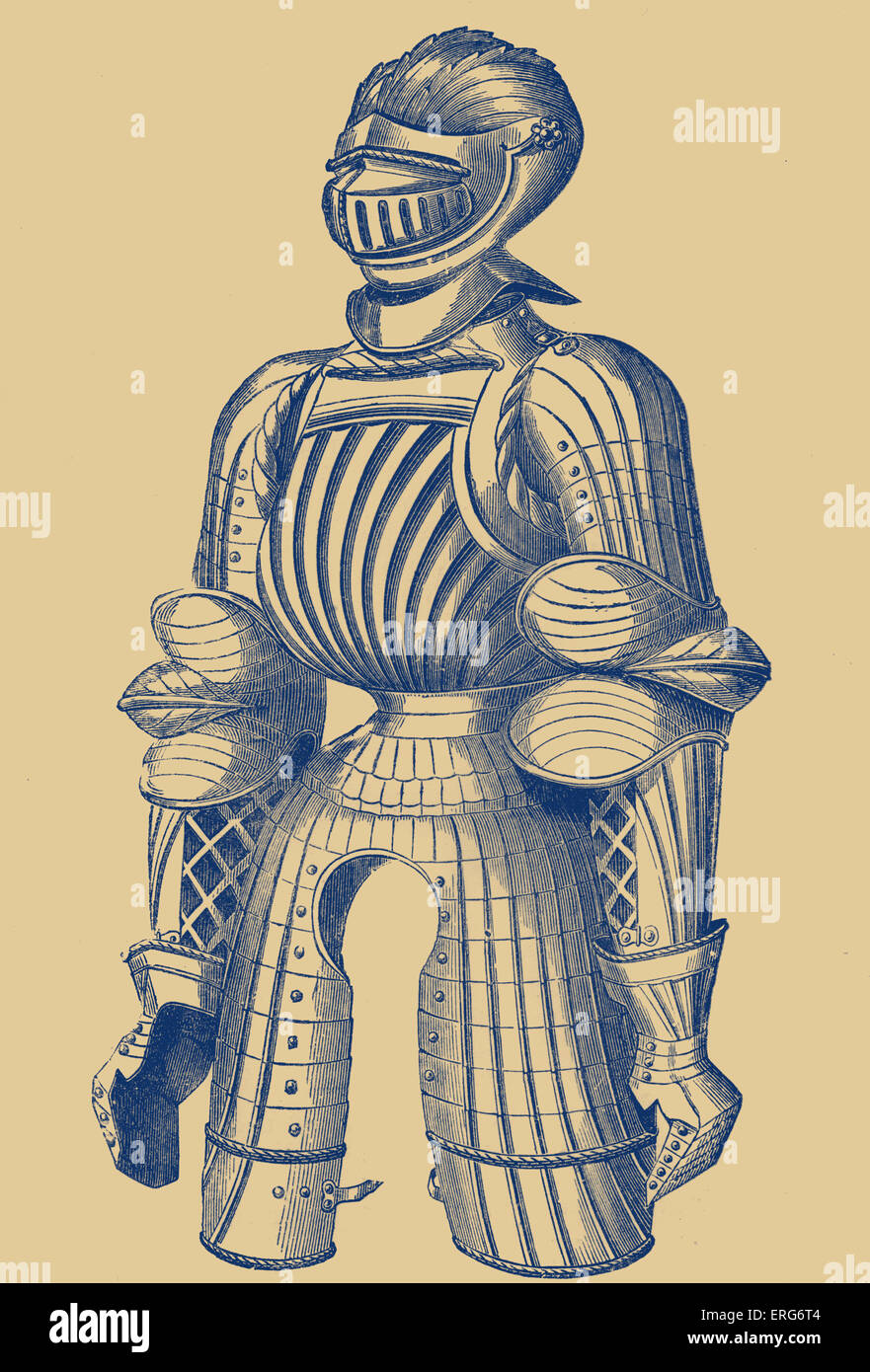 Convex armour of the fifteenth century, said to have belonged to Maximilian. Maximilian I of Habsburg, Holy Roman - Stock Image