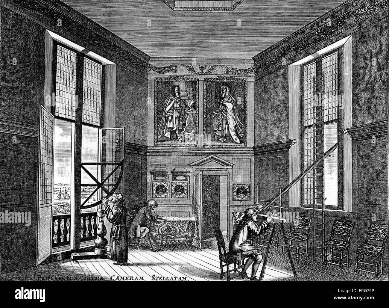 Old Room Black And White Stock Photos Images Alamy Book Wiring Observation The Observing Greenwich After An Engraving Created Under Direction Of