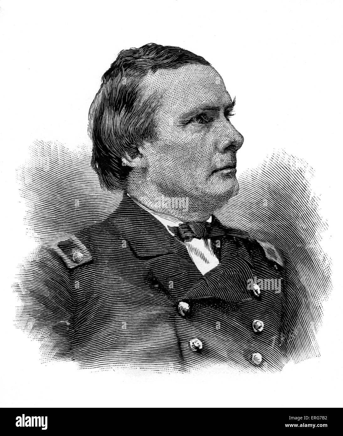 Rear Admiral James Edward Jouett, after a photograph. United States Navy officer, 7 February 1826 – 30 September - Stock Image