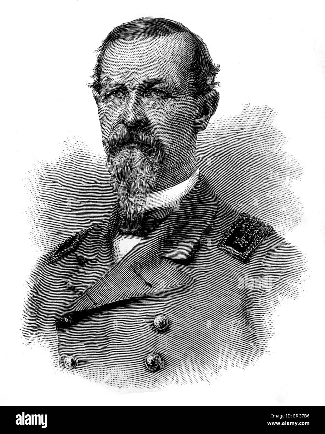 Commander James D Johnston, Confederate Navy commander, in charge of the CSS Tennessee when it was captured during - Stock Image