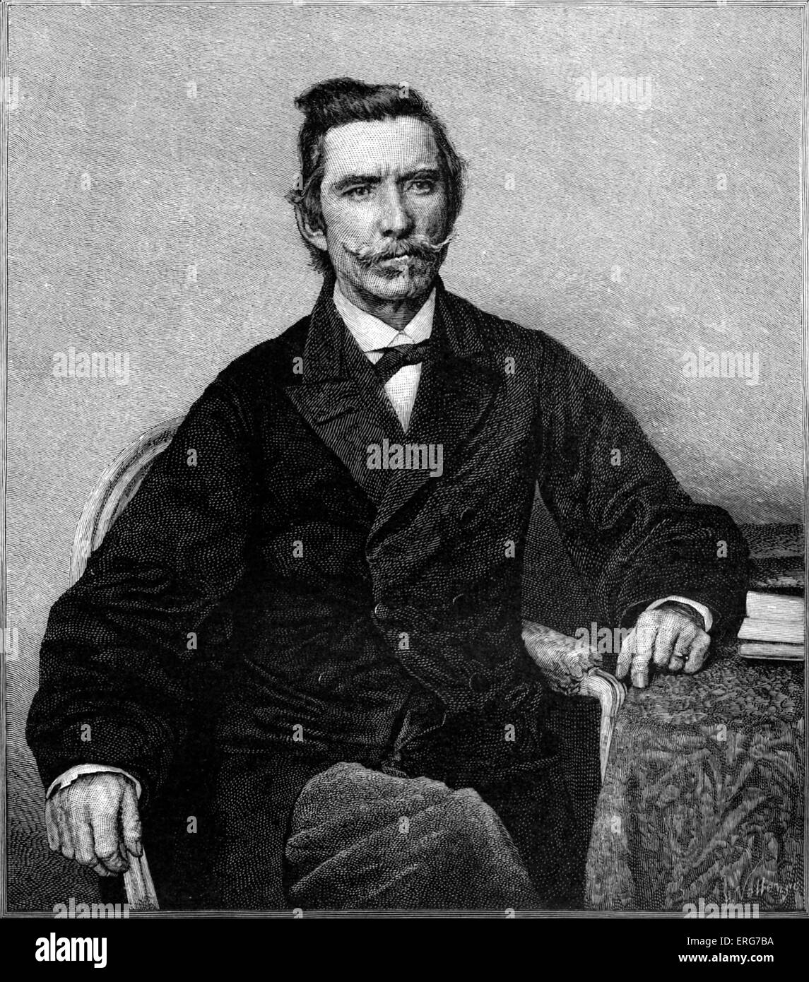 Rear-Admiral Raphael Semmes, from a photograph taken in England after the loss of CSS Alabama, which he captained - Stock Image