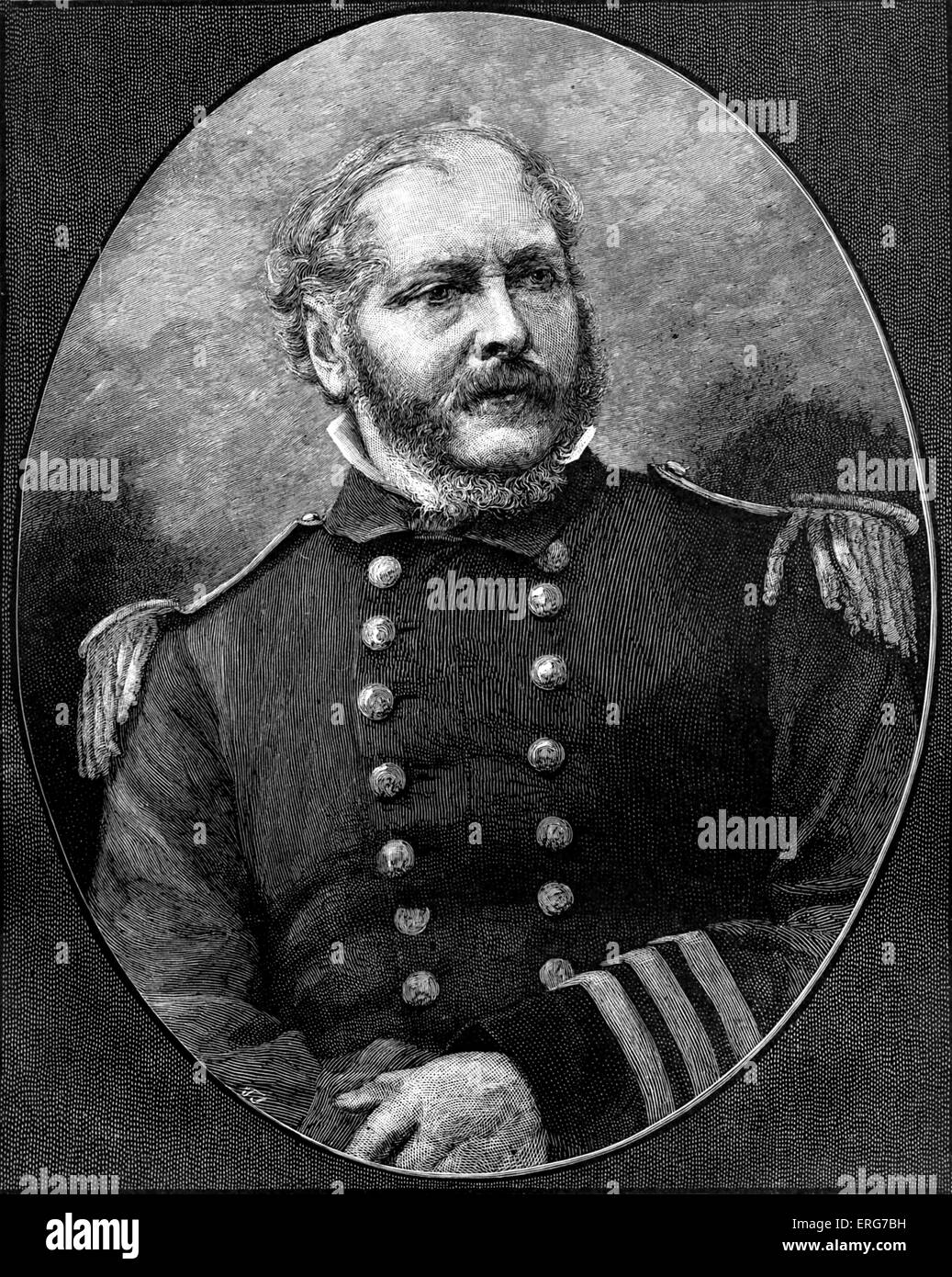 Rear Admiral John Ancrum Winslow, officer of the United States Navy and captain of the USS Kearsage during the American - Stock Image