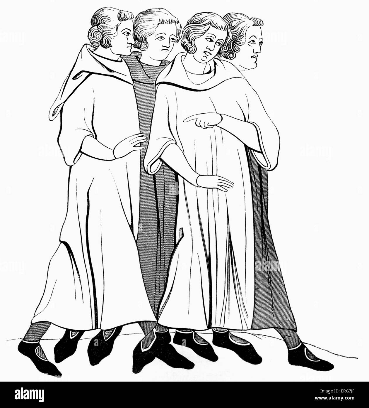 13th century cut out stock images pictures alamy Sixth Century bourgeois at the end of 13th century stock image