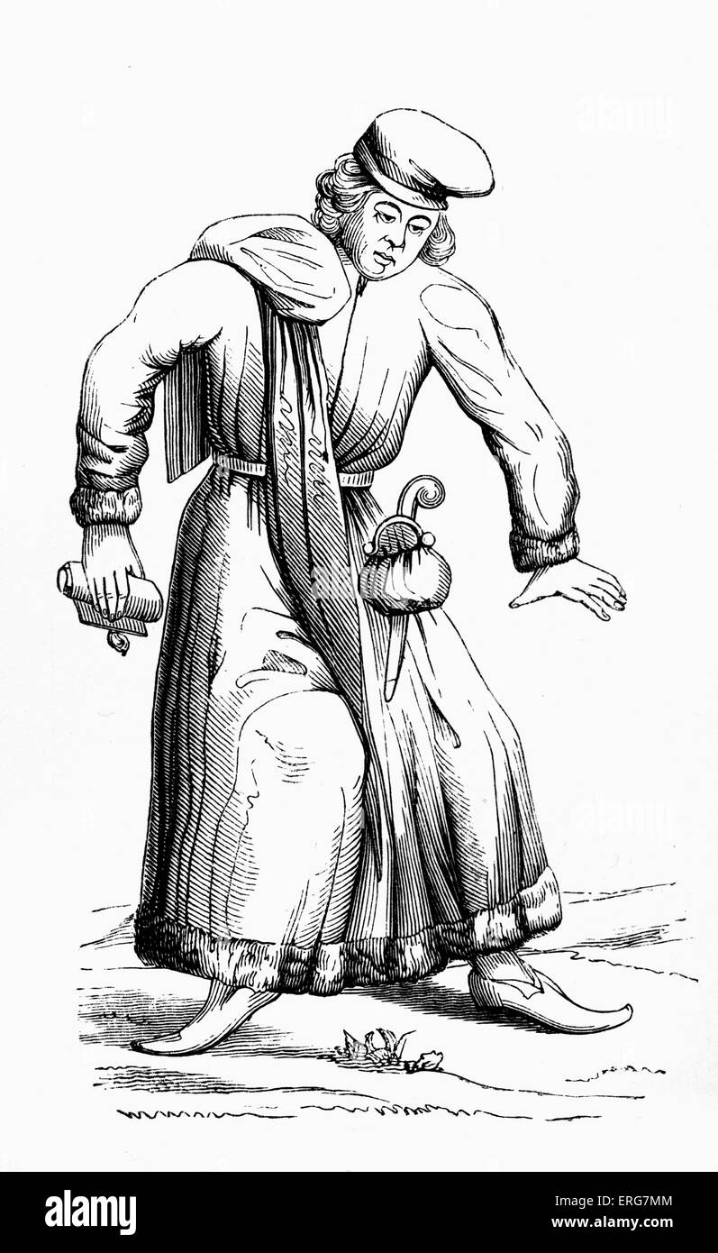 Lawyer by Matthaus Merian the Elder, reproduced from the original engraving in 'Danse des Morts'. Swiss engraver, Stock Photo