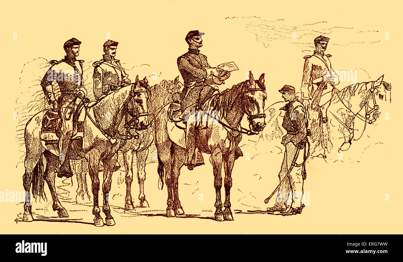 Provost guard in Washington - American Civil War, after sketch, 1862.  Military police. - Stock Image