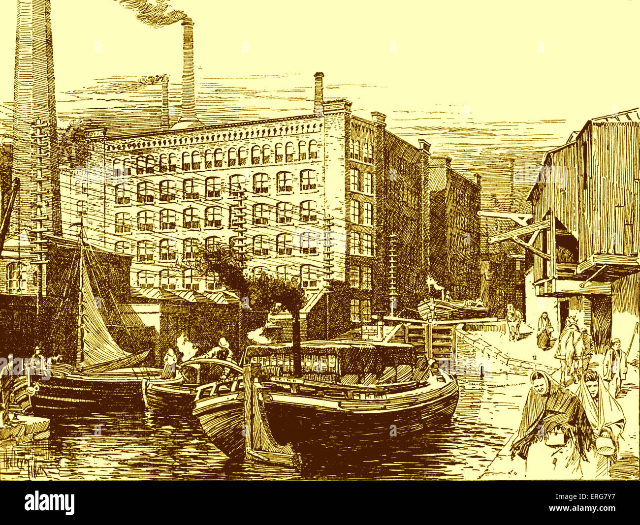 19th century factory building stock photos 19th century factory building stock images alamy. Black Bedroom Furniture Sets. Home Design Ideas