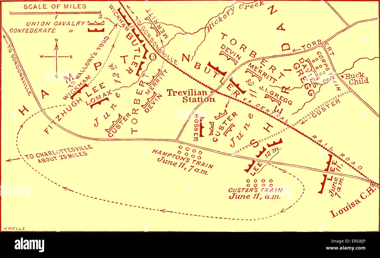 battle of travellian station map american civil war battle fough as part of ulysses s grants overland campaign against