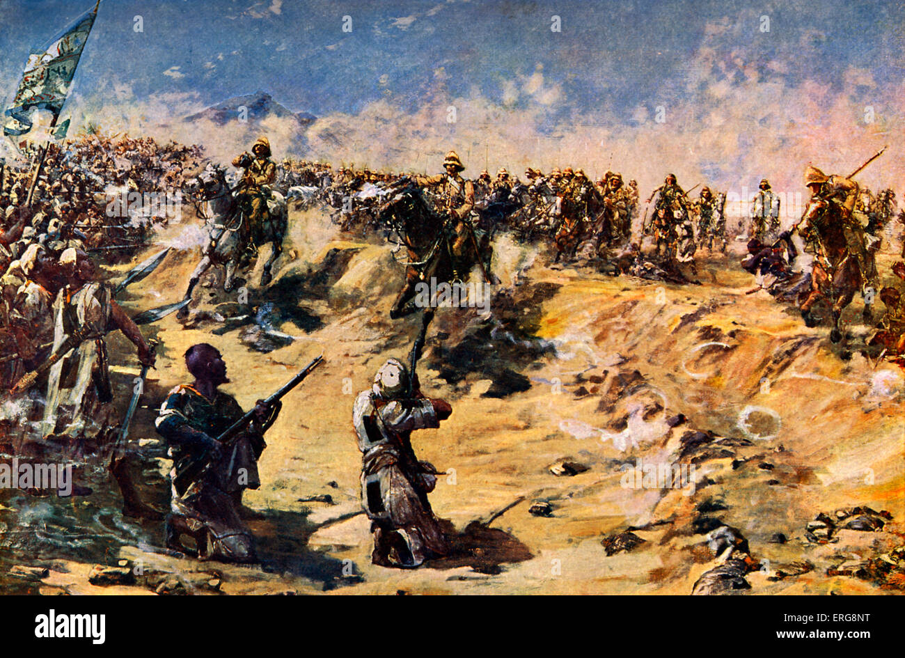 The Charge of the 21st Lancers at Omdurman, 1898. During the Mahdist War. - Stock Image