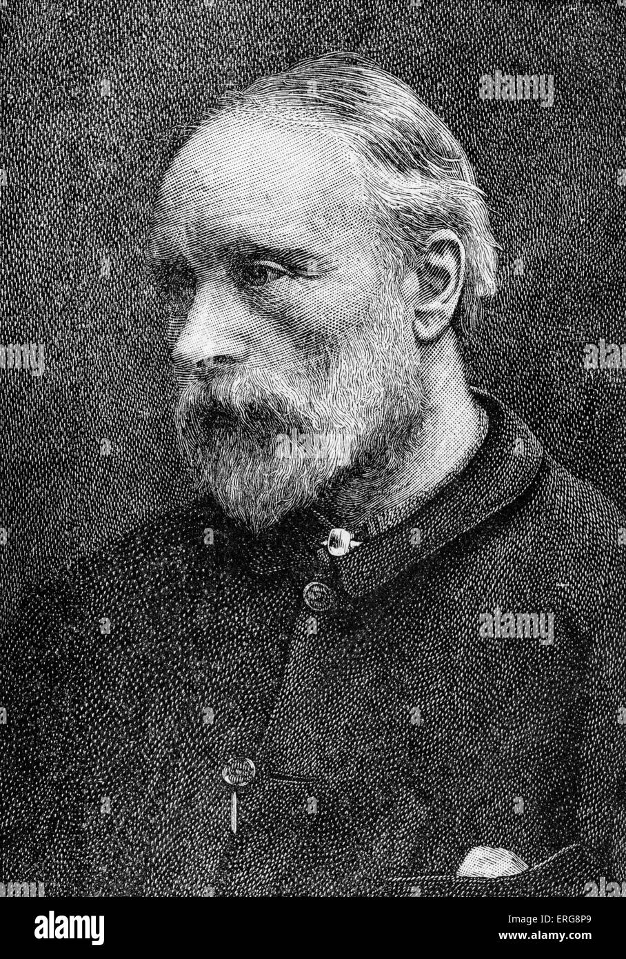 Sir Edward Burne-Jones, portrait.  British artist and designer associated with the Pre-Raphaelite movement, b. 28 - Stock Image