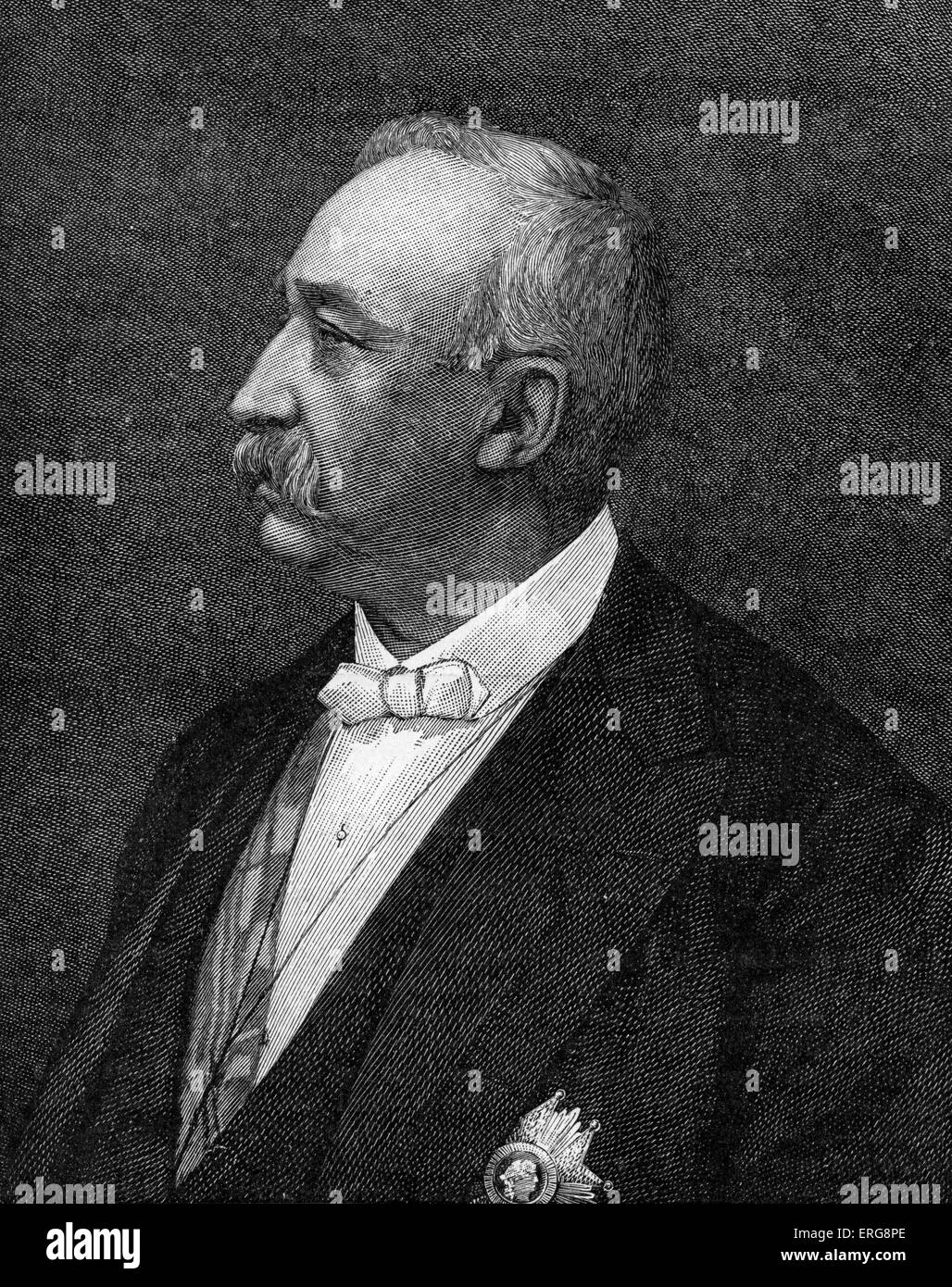 President Faure, portrait.    Félix François Faure, French President from 1895 - 1899, b. January 1841 - Stock Image
