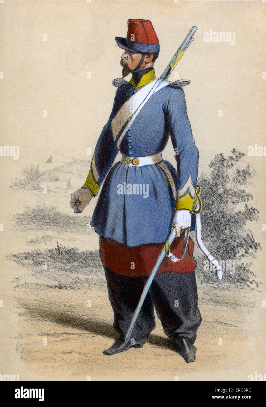 Chasseur d'Afrique: member of the Army of Africa (Armée d'Afrique), referring to those portions of the - Stock Image