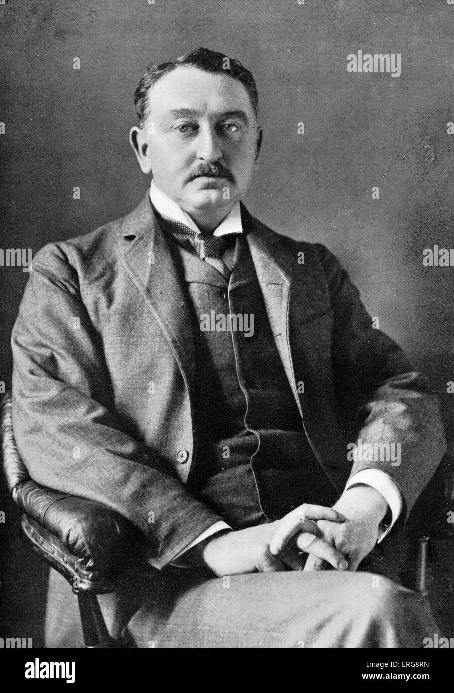 Cecil John Rhodes, portrait c. 1900.   Cecil Rhodes was an English-born businessman, mining magnate, and politician - Stock Image