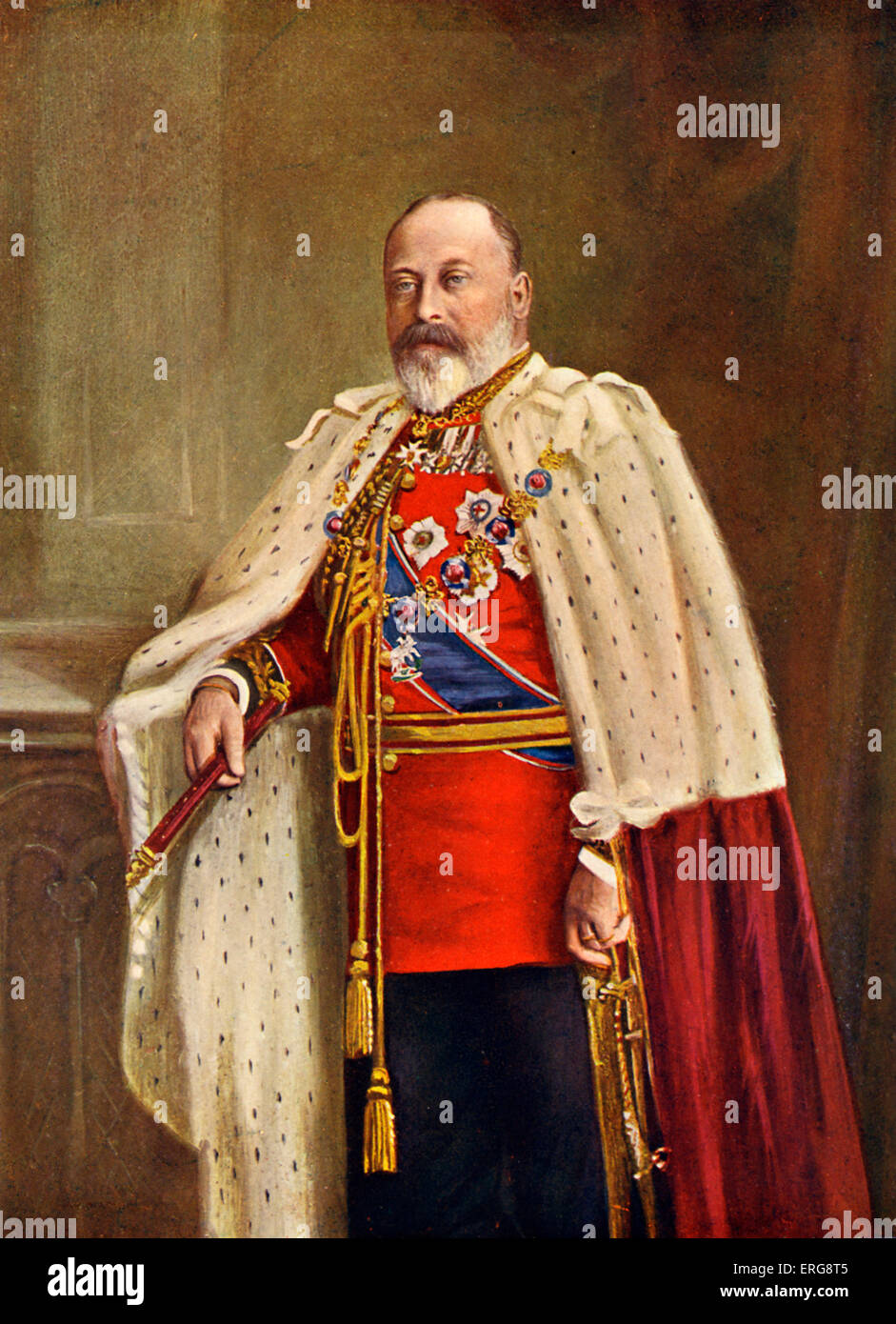 His Majesty King Edward VII,  King of the United Kingdom and the British Dominions, Emperor of India from January - Stock Image