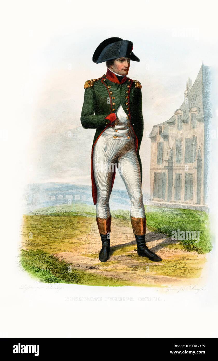 Napoleon Bonaparte, First Consul / Premier Consul -  title used by Napoleon Bonaparte following his seizure of power - Stock Image