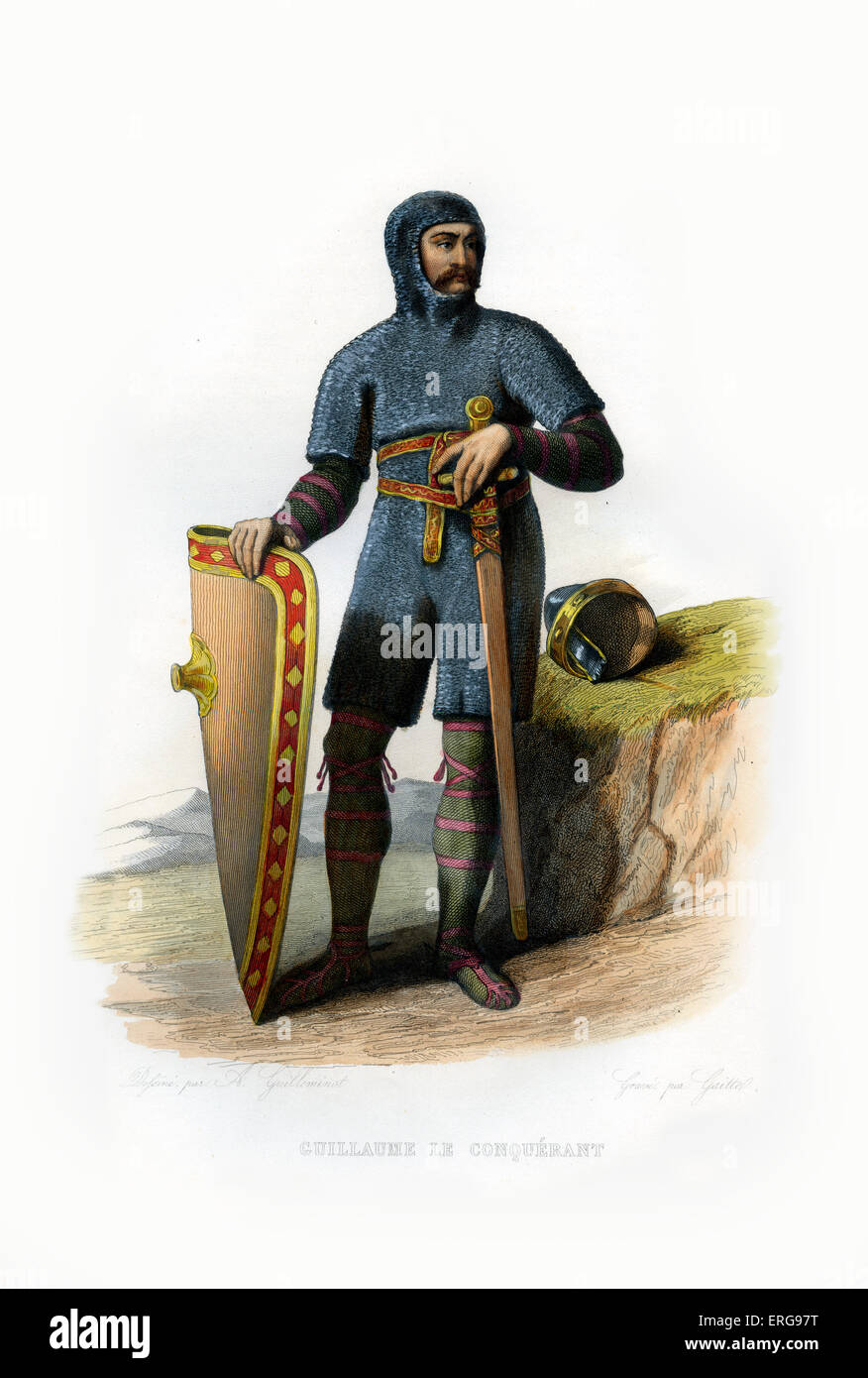 William I or William the Conqueror (Guillaume le Conquérant). The first Norman King of England from 1066 until - Stock Image