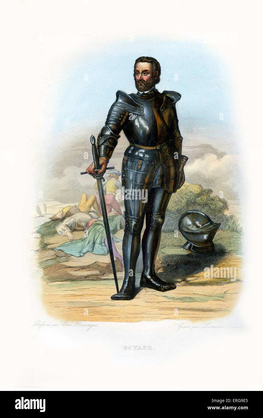 Pierre Terrail Le Vieux, seigneur de Bayard. Dauphinois nobleman and  knight who distinguished himself during the - Stock Image