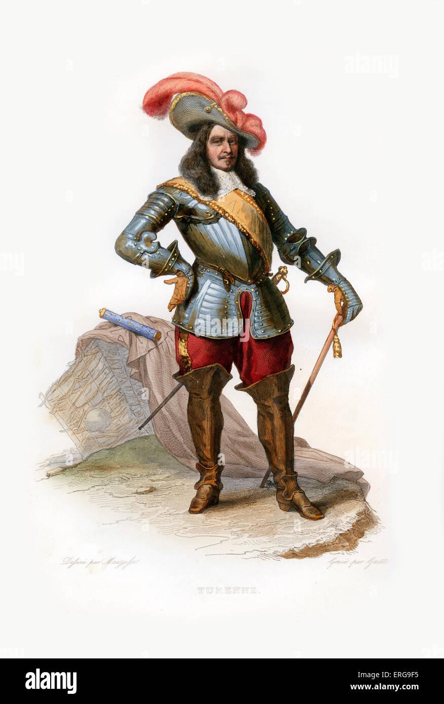 Henri de la Tour d'Auvergne, Vicomte de Turenne.  French nobleman who achieved military fame and became a Marshal - Stock Image