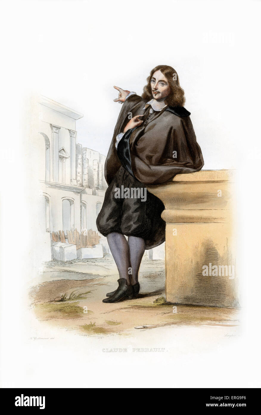 Claude Perrault. French architect, physician and anatomist; best known as the architect of the eastern range of - Stock Image