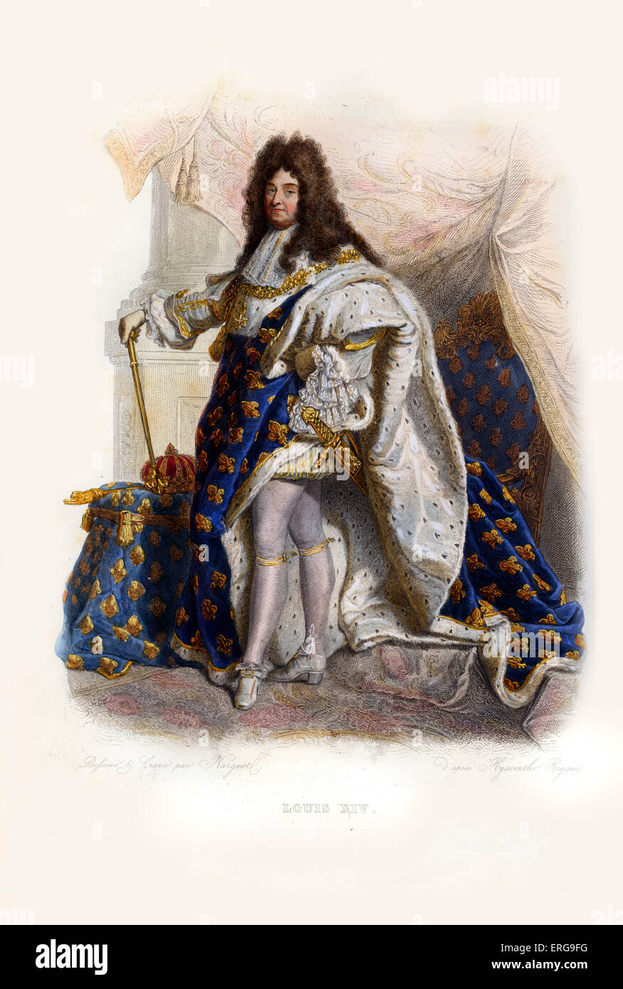 Louis XIV, known as the Sun King (French: le Roi Soleil). King of France and of Navarre (1643-1715). 1638-1715. - Stock Image