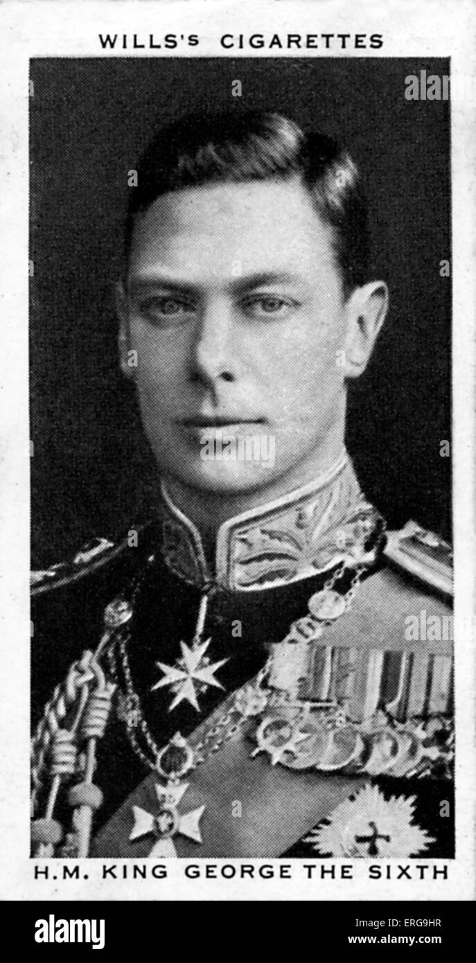 King  George VI, 12 May 1937.  From commemorative coronation album, 1937 - Stock Image