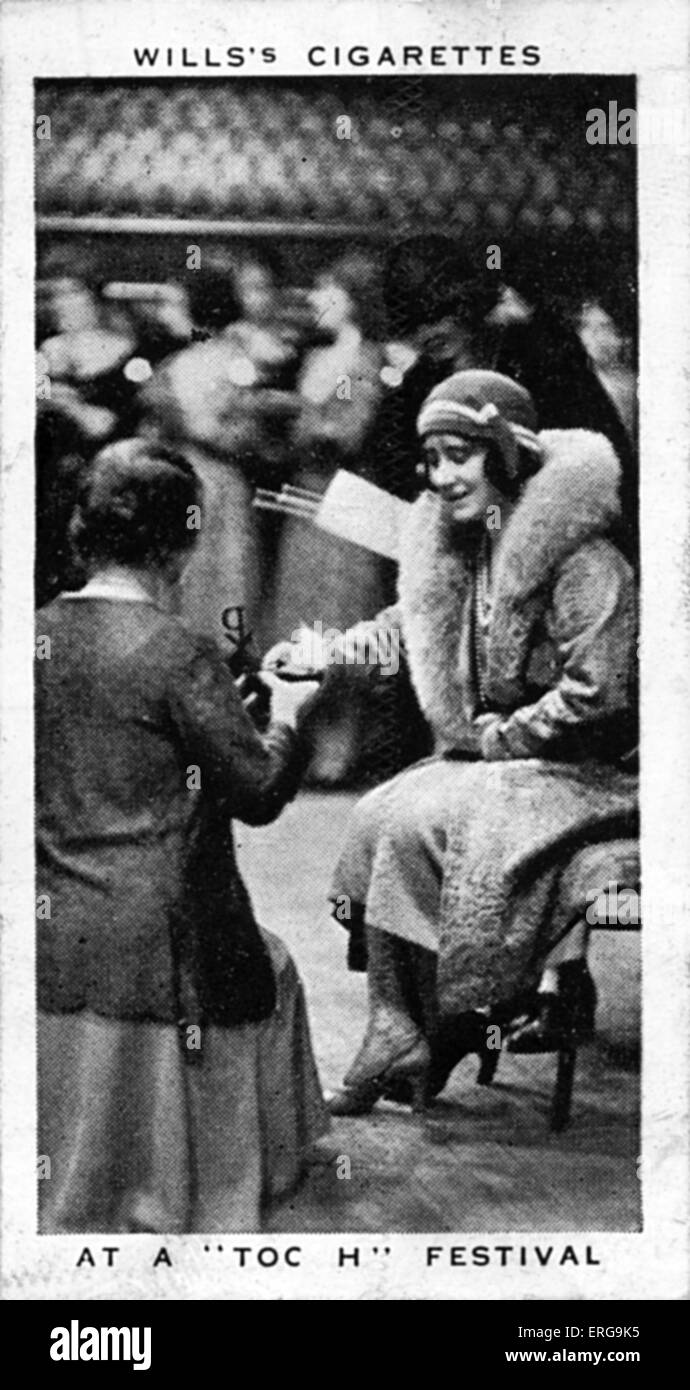 Queen Elisabeth (then Duchess of York), at a 'Toc H' Festival, in Royal Albert Hall, 1934. Queen supported - Stock Image