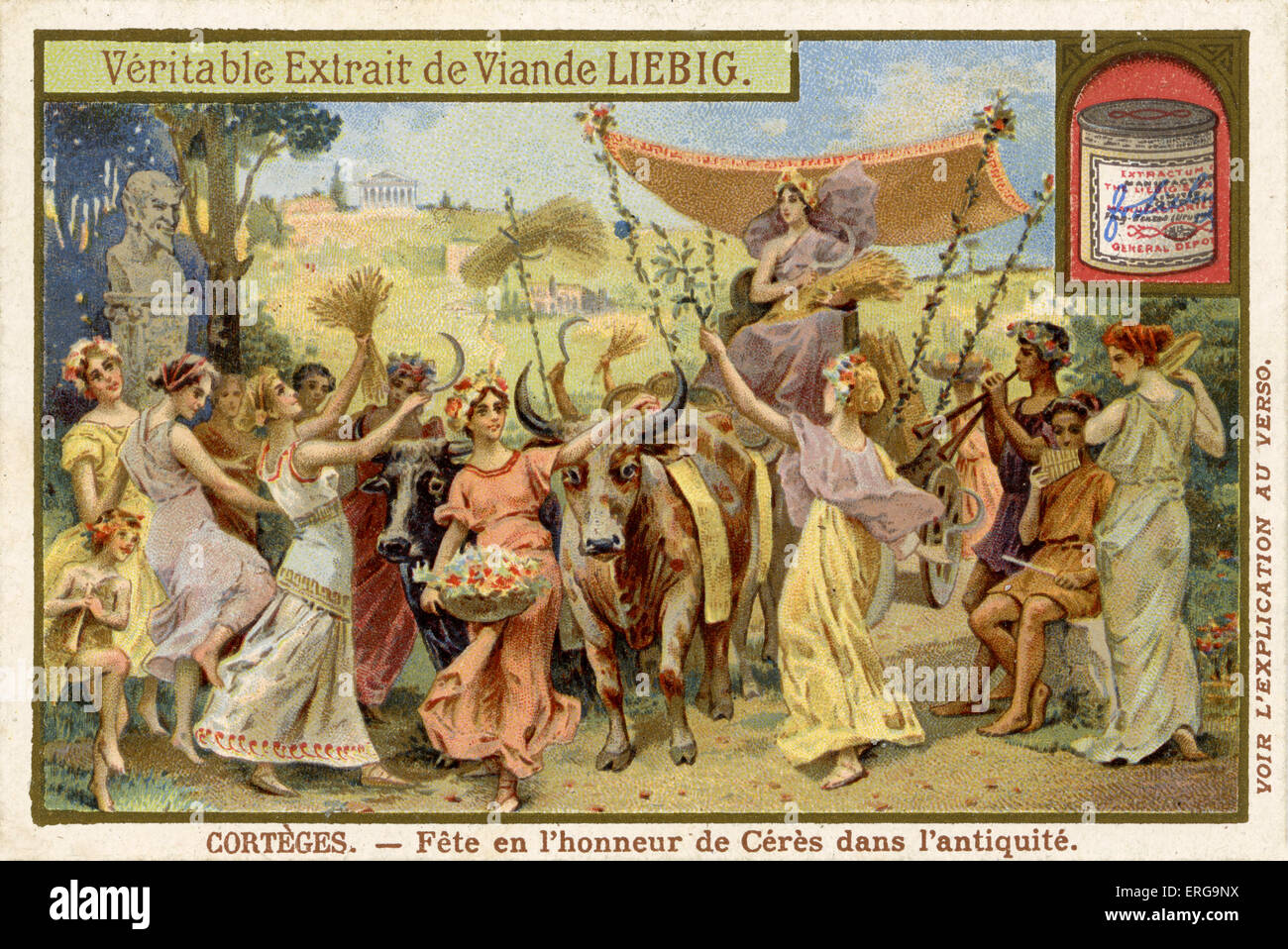 Celebration in honour of Ceres, goddess of agriculture, grain crops, fertility and motherly relationships in Ancient - Stock Image